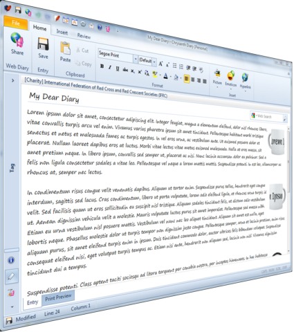 Powerful and User-Friendly Diary Editor