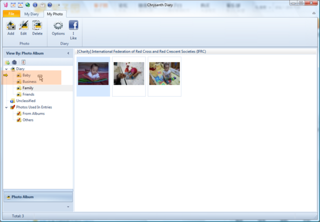 Drag and drop to reorganize photos