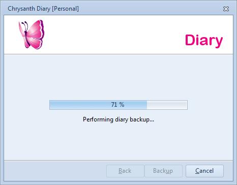 Diary Backup in Progress